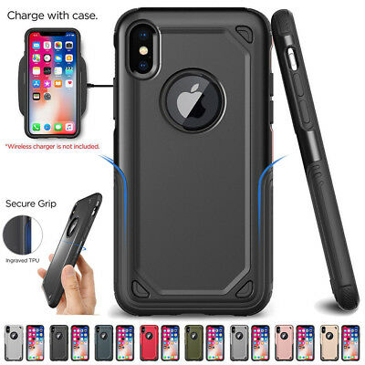 For iPhone X 6/7/8 Plus SE Hybrid Armor Shockproof Case Rugged Protective Cover
