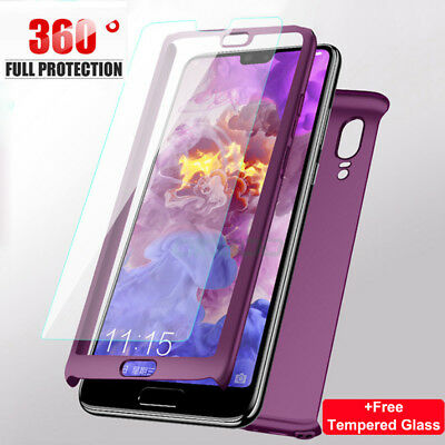 For Huawei P20 Mate 10 Pro Lite 360° Full Protective Case Cover +Tempered Glass