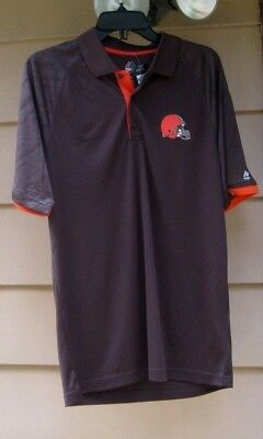 fa56f18852b Cleveland Browns Field Classic 3-Button Field Majestic Cool Base Polo Shirt  Nwt