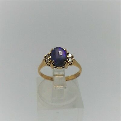 18Ct Yellow Gold Cobachon Cut Opal Ring Valued @$1913 Comes With Valuation