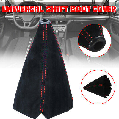 Universal Car Auto Suede Leather Shift Boot Cover Gaiter Gear Manual Shifter AU