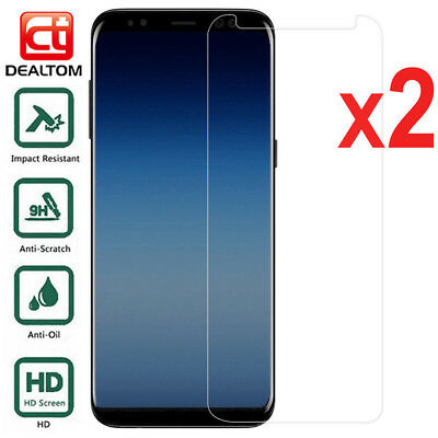 2X Tempered Glass Screen Protector For Samsung Galaxy S6 S7 A6 A8 J4 J6 J8 2018