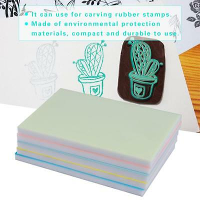 Colorful Rubber Carving Blocks for DIY Rubber Stamp Making Printing