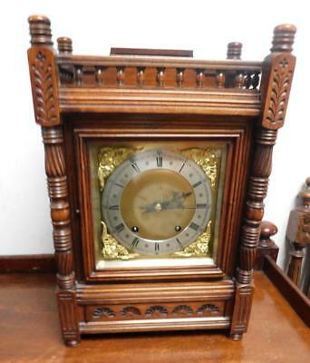 walnut cased 1/4 strike bracket clock by w&h germany