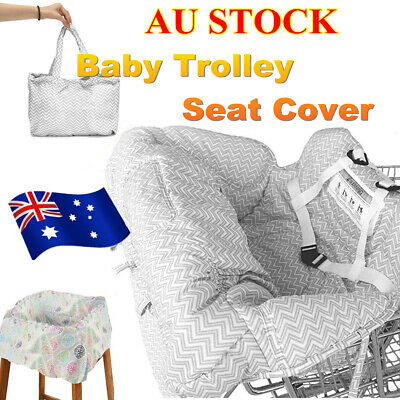 AU Baby Kid Child Shopping Trolley Cart Seat Pad Child High Chair Cover Protect