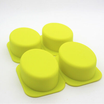 4-Cavity Oval Soap Mold Cake Mold Silicone Mould For Candy Chocolate