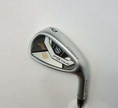 Wilson FG Tour F5 Forged Pitching Wedge S300 Stiff Steel Shaft Lamkin Grip