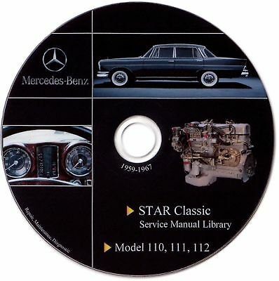 Mercedes Benz Oldtimer Fintail W110 W111 W112 Service Manual Repair Workshop DVD