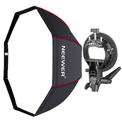 Neewer Studio 32 inches Octagonal Softbox with Red Edges, S-Type Bracket Holder