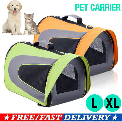 Foldable Pet Carrier Dog Cat Soft Crate Cage Portable Kennel Travel House L XL
