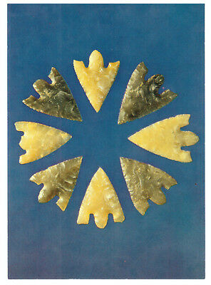 Prehistoric Arrowheads, Late Neolithic - Les Fouaillages, Vale Guernsey Postcard