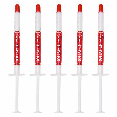 5X Silicon Thermal Heat sink Compound Cooling Paste Grease CPU Processor Syringe