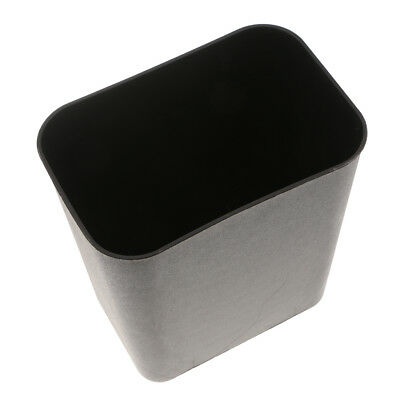 Square Trash Can Wastebasket Garbage Container Bathroom Plastic 8L Black New