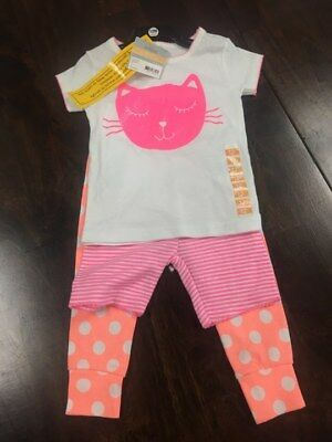 NWT Carters Baby Girls 3- Piece Set - 12M