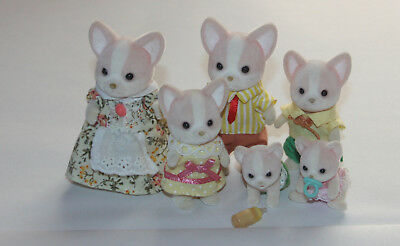 Sylvanian Families Chihuahua Familie mit Babys Top Zustand