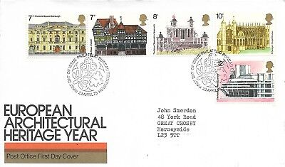 23/4/1975 European Architectural Heritage Year Fdc