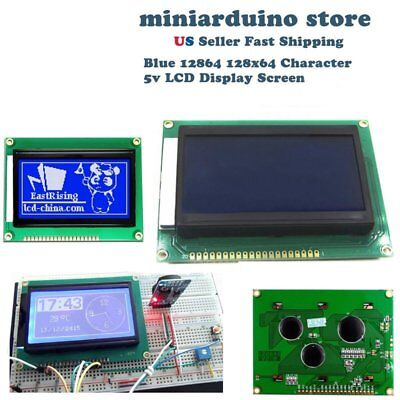 12864 128x64 Graphic Blue Color Backlight LCD Display Module for arduino M7A3