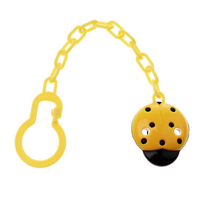 Toddler Baby Pacifier Soother Dummy Clip Holder Chain Plastic Clip Yellow