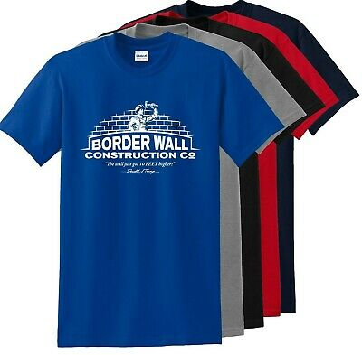 Trump Border Wall Construction Co. Parody Men's T-Shirt up to 5x NEW DESIGN 2