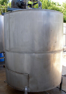 ALPHA 1100 Gallon Stainless Steel Mixing Tank with Motor and Agitator Blades