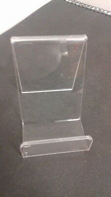 Phone Dvd book stand in clear acrylic used x 40