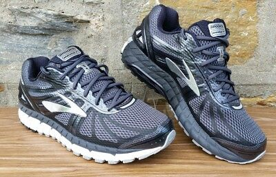 0d929dd7677f4 Brooks Beast 16 Mens Athletic Running Shoes Wide Size 12 2E Black Gray  Silver