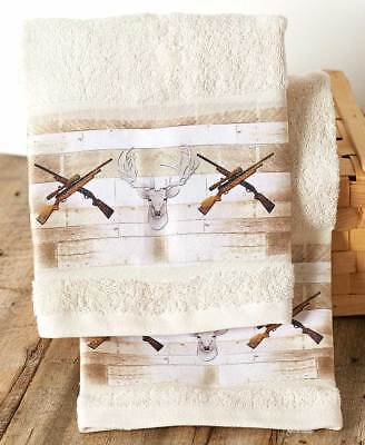The Lakeside Collection Set of 2 Born to Hunt Hand Towels