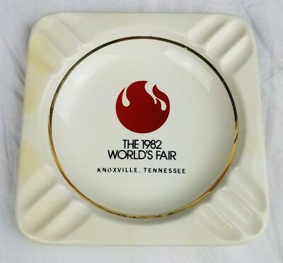 Original Ceramic Ashtray 1982 World's Fair Knoxville Tennessee VTG 80s