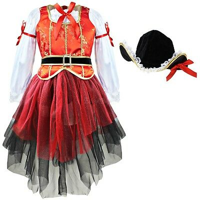 Girls Pirate Fairy Halloween Costume Outfits Kids Party Fancy Dress Up Clothes