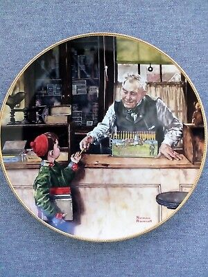 "Norman Rockwell ""Back to School"" 1990 Collector Plate"