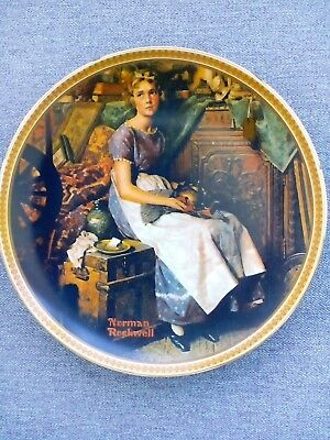 "Norman Rockwell ""Dreaming in the Attic"" 1981 Collector Plate"