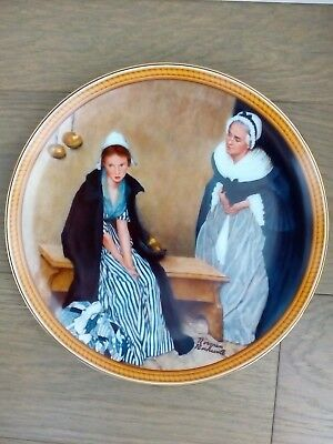 "Norman Rockwell ""Words of Comfort"" 1986 Collector Plate"