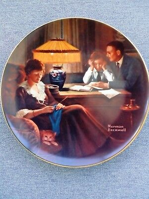 "Norman Rockwell ""Fathers Help"" 1983 Collector Plate"