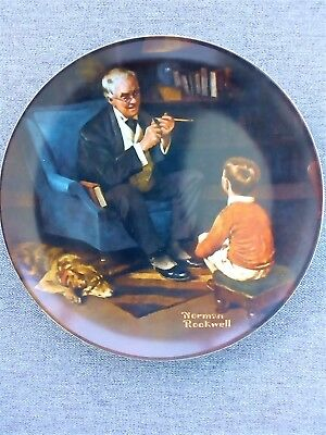 "Norman Rockwell ""The Tycoon"" 1982 Collector Plate"