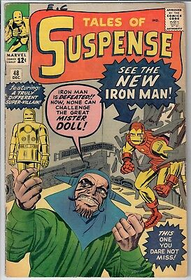 Tales of Suspense #48 EARLY IRON MAN!  1st Red and Gold Armor 1963