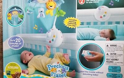 1fca1c9bee1d6 NEW FISHER PRICE Precious Planet 2-In-1 Projection Mobile + Remote ...