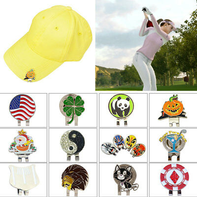 New 12Style Golf 4 Leaf Clover Golf Ball Marker With Magnetic Hat Clip Clamp  64189dd1e510