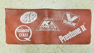 Vintage K Care Fender Cover Stp Quaker State Valvoline Prestone Ii Advertising