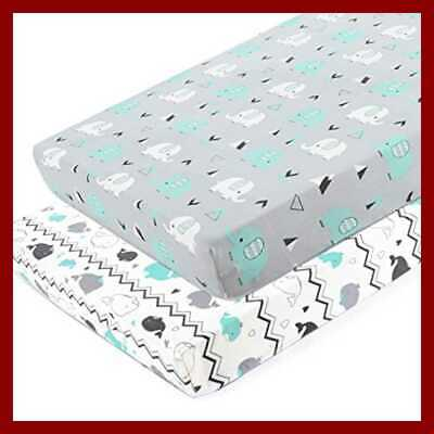 Pack n Play Stretchy Fitted Playard Sheet Set-Brolex 2 Portable Mini Crib Sheets
