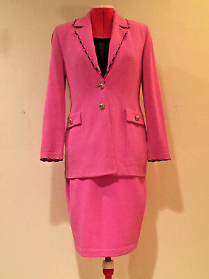 ST. JOHN COLLECTION by Marie Gray PINK KNIT SKIRT SUIT, Ladies Sz 2