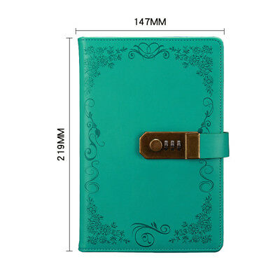 Vintage Notebook Notebook Diary Journal With Code Lock Leather Password Gift