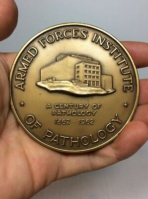 Armed Forces Institute Of Pathology 1862-1962 Army Medical Museum Bronze Medal