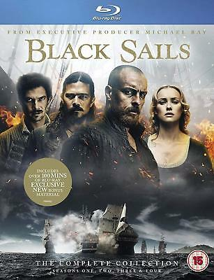 Black Sails The Complete Collection Seasons 1, 2, 3 & 4 Blu ray Box Set New RB