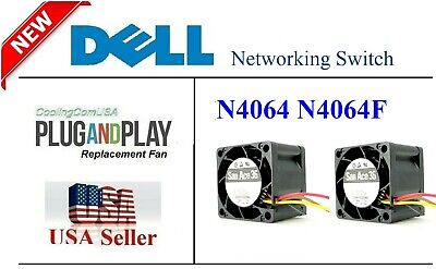 Pack of 2x new Replacement Fans only for Dell PowerConnect 7048R 7048R-RA