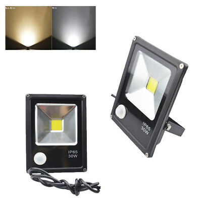 30W LED Flood Light PIR Motion Sensor Floodlight Garden Outdoor Building