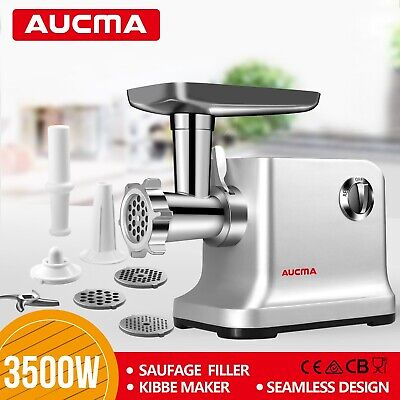 Max3500W Stainless Steel Mincer Electric Meat Grinder Kubbe Maker Sausage Filler