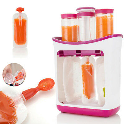 Infant Fresh Squeezed Squeeze Station Baby Food Maker Storage Feeding Pouches