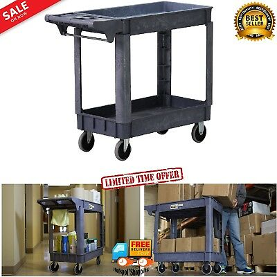 500-Pound Capacity Service Cart Tool Rolling Utility Shelves Heavy Duty Trolley