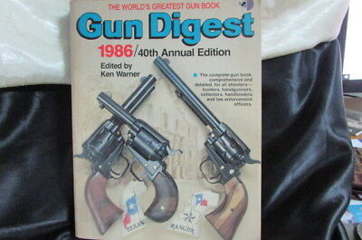 1986 Gun Digest 40Th Annual Edition 480 Pages