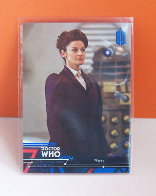 Topps Doctor Who Extraterrestrial Encounters Missy #50 Blue parallel card 49/99